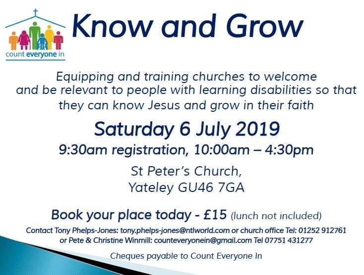 Know & Grow1 - Yateley 6th July 2019