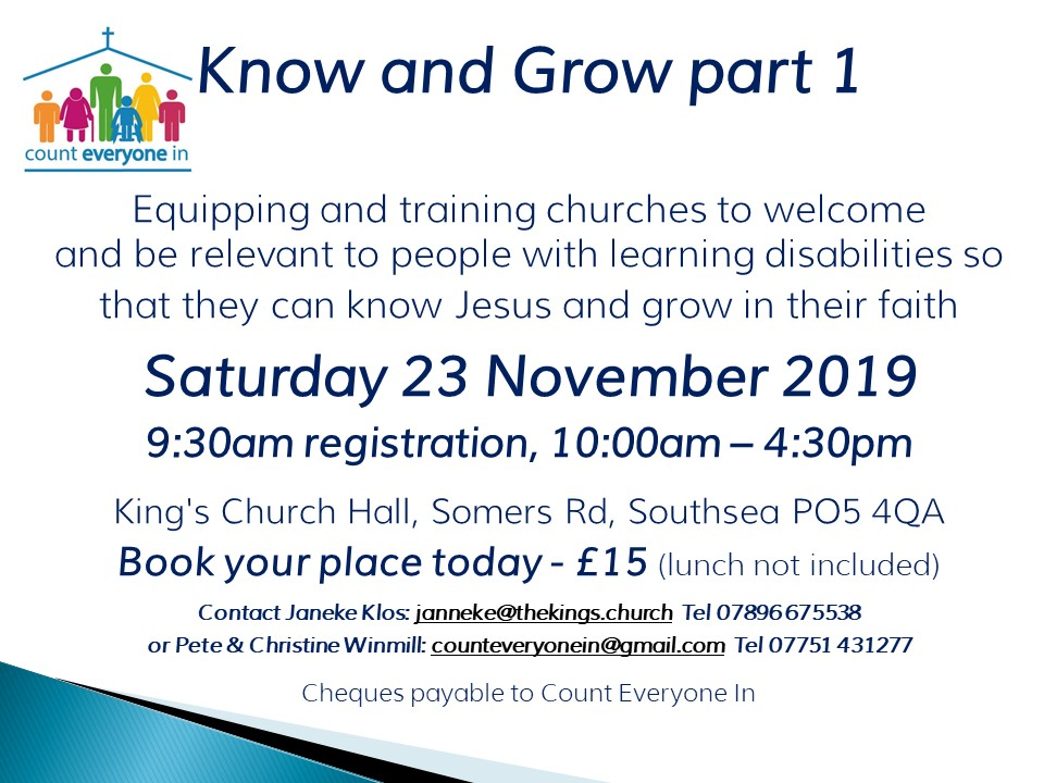 know & grow King's church southsea